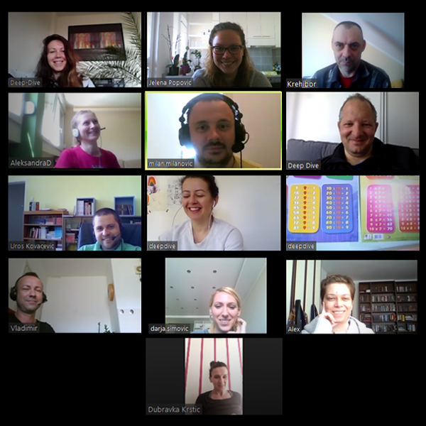 deep dive team on a Zoom meeting during COVID 19 epidemic